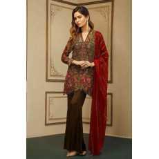 Partywear  Bridal cloth suit unstitched fashion designer fancy dress