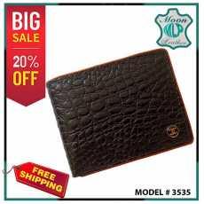 Black  Geniune platted Leather Wallet for Mens