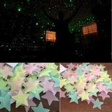 300 Pcs Creative Glowing Stars Sticker Wall 3D Wall Stickers Luminous Stick...
