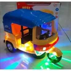 Bump & Go Auto Rickshaw toy with Sound & Flashing Light toy for kids