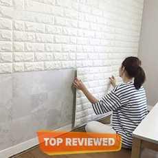 3D Brick Wall Stickers PE Foam High Self-Adhesive Wallpaper Peel and Stick 3D...
