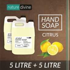 Pack of 2 Antibacterial Citrus Hand Soap 5 Litre - Family Pack
