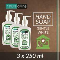 Pack of 3 Antibacterial Gentle White Hand Wash Soap with Chloroxylenol 250 ml