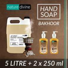Pack of 2 x 250 ml and 5 Litre Antibacterial Arabic Bakhoor Hand Wash Soap -...