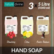 Pack of 3 Anti bacterial Hand Wash Soap (Strawberry, Citrus, Arabic Bakhoor)...