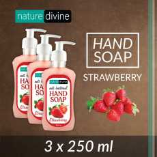 Pack of 3 Antibacterial Strawberry Hand Soap 250 ml