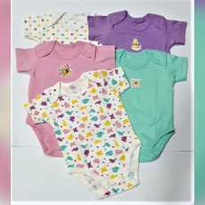 Children Body Suit Export Quality Half Sleeves, Tag-less Tickle-free Necks