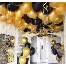 Pack of 100 (50 Golden & 50 Black) party Balloons High Quality for party