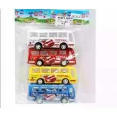 Pack of 4 Pull Back school Bus For kids