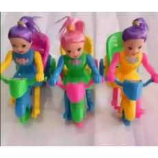 Pack of 3 Doll Cycle Toy Multicolour