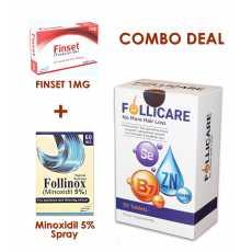 Combo Treatment for Hair Loss - Follicare Vitamin - Minoxidil 5% - Finistride...