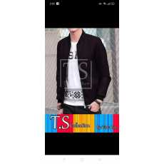 New men's artificial leather jacket