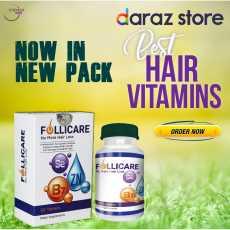 Folicare Tablets for Hair Loss Solution - Best Hair Treatment Vitamins