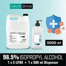 5000 ml (5 Litre) Isopropyl IPA 98.5% Alcohol Hand Rub and General Purpose...