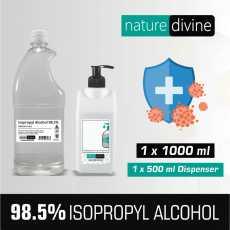1000 ml (1 Litre) Isopropyl IPA 98.5% Alcohol Hand Rub and General Purpose...