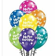 100 pieces Happy Birthday Balloons Multicolour