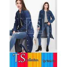 Ladies Denim Long Coat