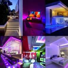 RGB Waterproof LED Strip Light 5M RGB DC 12V LED Strip With Remote Control 5A...