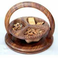 Wooden dry fruit Basket