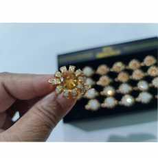 1 Piece 1k gold Ring flower ring Adjustable ring