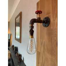 Steampunk style wall light, electrical tap wall mount lamp, water pipeline...