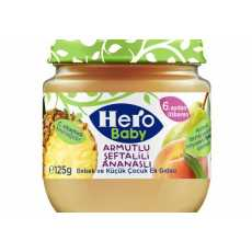 Hero Baby Food Pudding with Pear, Apple, Pineapple 125 GM (Pack Of 2)