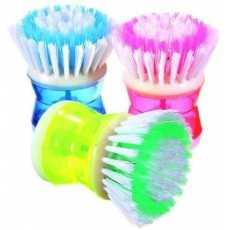 Soap Dispensing Palm Brush, Kitchen Brush for Dish Pot Pan Sink Cleaning/...
