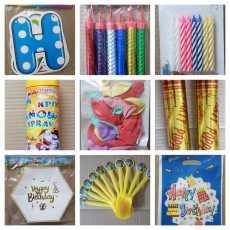 AJN Birthday Items Unique Set HQ, Happy Birthday Banner, Party Popper, Foam...