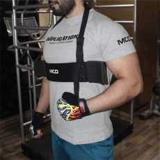 Arm Blaster Bicep Isolator Blaster Barbell Bar Weight Lifting Arm Training...