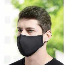 Dustproof Multiple Layers Cotton Face Cover Reusable Washable Black Mask