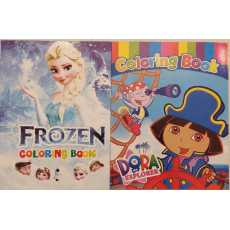 Pack of 2- Coloring Books Speical Girls Characters