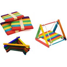 Pack of 120 Multi Colored Plain Ice Cream Sticks for Art Work & Creative Design