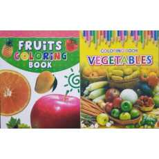 Pack of 2- Coloring Books Fruit & Vegetables