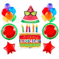 Watermelon Happy Birthday Beautiful & Unique Theme with Multicolor Birthday...