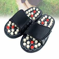 Massage Slippers - Reflexology Acupressure Foot Massage Slipper - Black