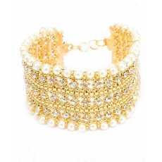 100 Degreez, Golden, Alloy, Bracelet for Women