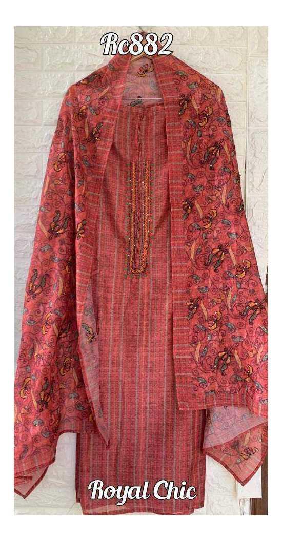 Chanderi printed shirt, dupatta, cotton bottoms with kurta Patti