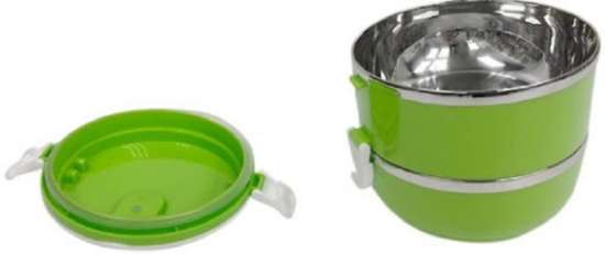 2 Layer Stainless Steel Lunch Box Thermal Insulated Lunch Box Bento Food...