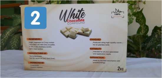 chocolate slab (white chocolate)