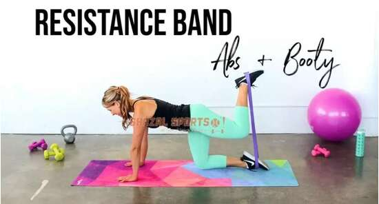 5PCS Sports Exercise Resistance Loop Bands Set Elastic Booty Band Set for...