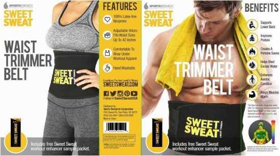 Sweet Sweat Premium Waist Trimmer Belt (Small)