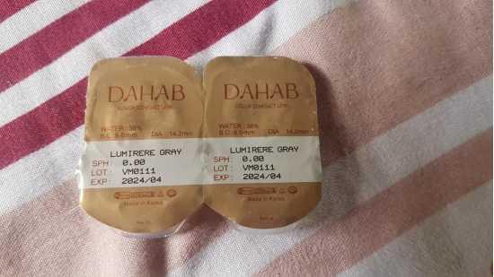 DAHAB Contact Lenses - LUMIRERE GREEN with FREE KIT (100% Original)