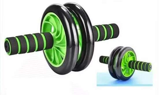 Super Mute Double Abdominal Wheel Ab Roller For Exercise Fitness Equipment