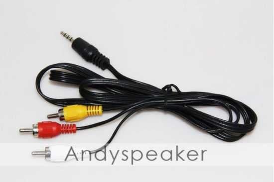 3 in 1 RCA AV Cable Audio Video 3.5mm jack to 3 RCA cable 112CM Cable High...