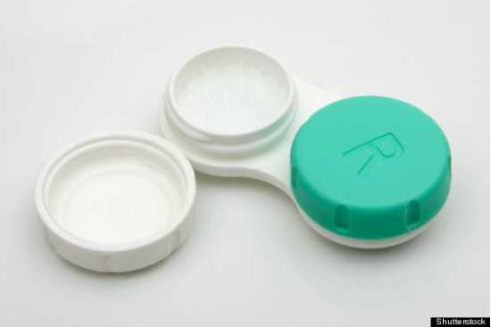 Eye Contact Lens in Grey Color With Container