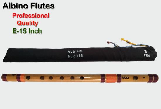 Albino E Professional Medium Scale Side Blown Bamboo Bansuri/ Flute