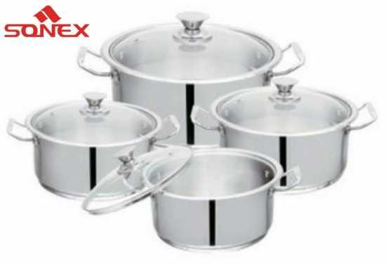 Sonex Mega Super Set – 4 Cooking Pots Set