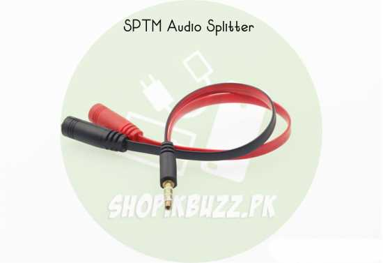 Audio Splitter 3.5mm SPTM Plug Earphone & Microphone Cable Adapter Connector