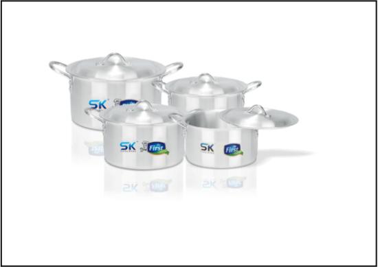 SK KING 8 PCS Aluminium Set