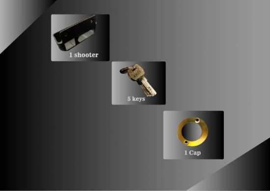 KHAS PREMEO HIGH QUALITY LOCK IRON MATERIAL WITH 5 COMPUTERIZED KEYS